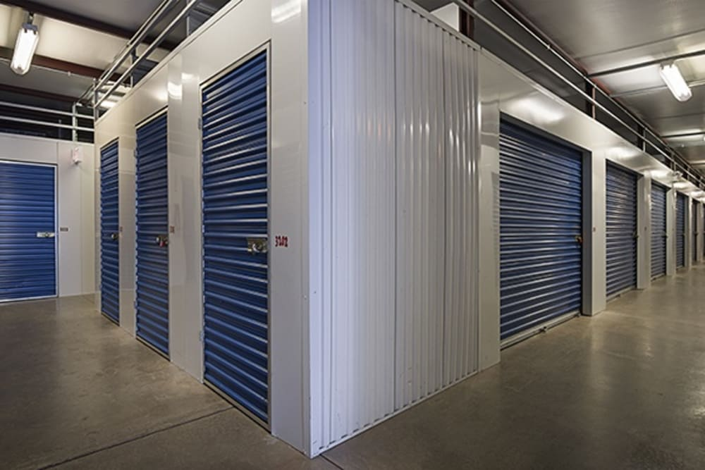Indoor units hallway at Metro Self Storage in Chicago, Illinois