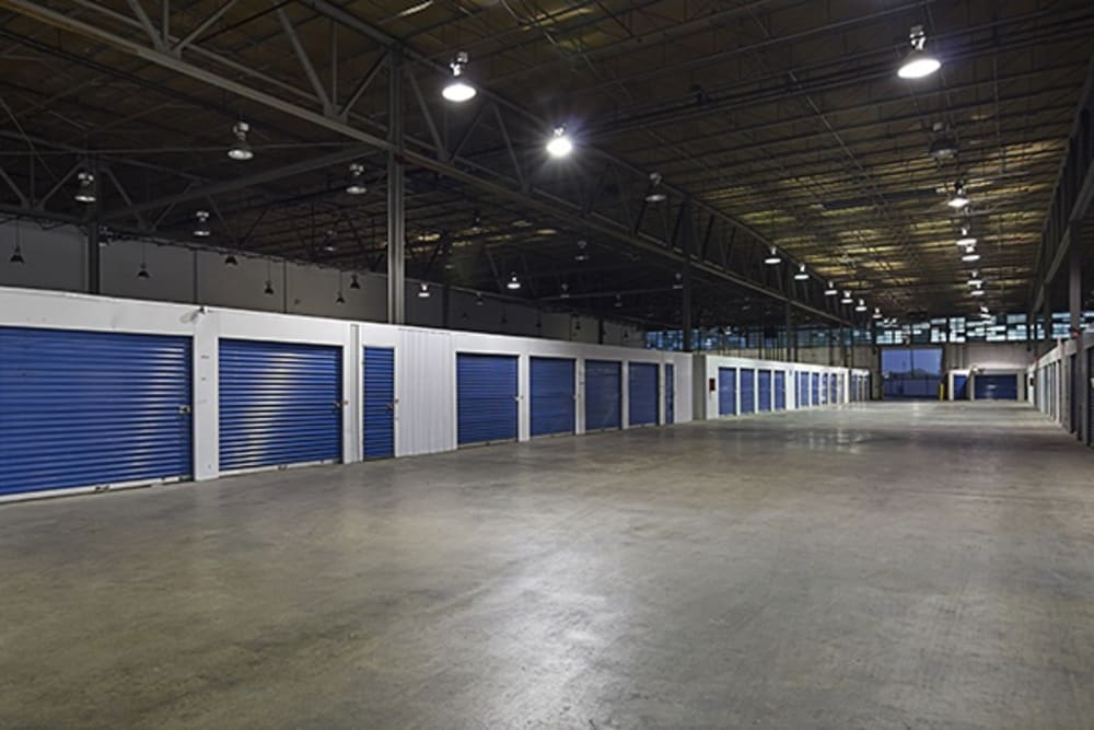 Interior storage units at Metro Self Storage in Chicago, Illinois