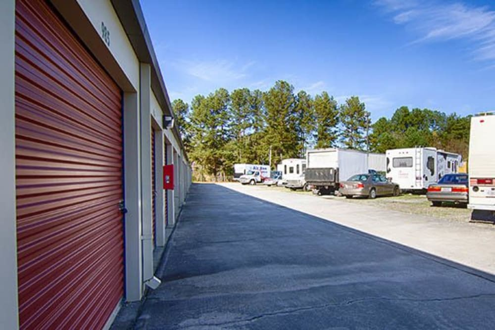 Outdoor units and Rv / boat parking at Metro Self Storage in Lithonia, Georgia