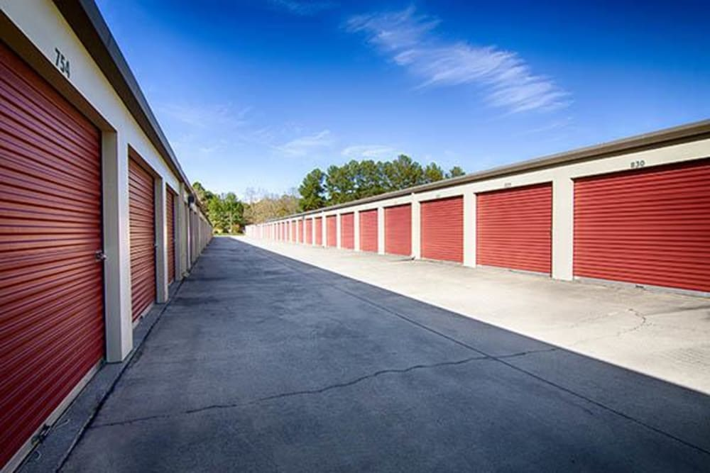 Outdoor units hallway at Metro Self Storage in Lithonia, Georgia