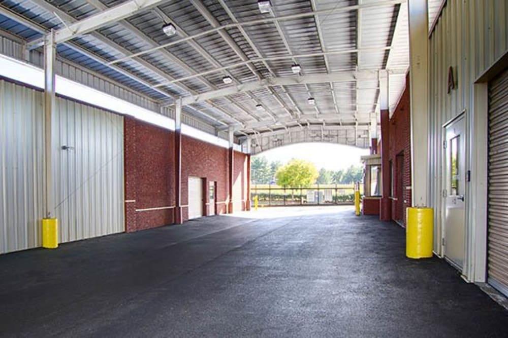 Drive-thru storage facility at Metro Self Storage in Rex, GA