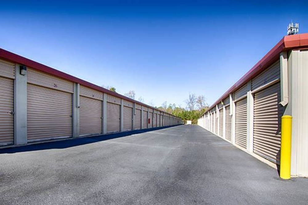 Outdoor units at Metro Self Storage in Rex, GA