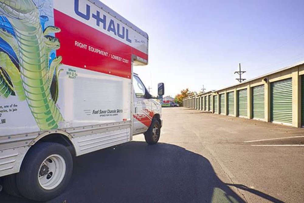 U-Haul truck for rent at Metro Self Storage in Willow Grove, Pennsylvania