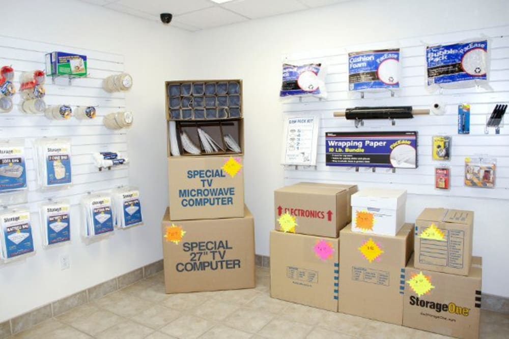 Packing supplies available at StorageOne Eastern & Silverado Ranch in Henderson, Nevada