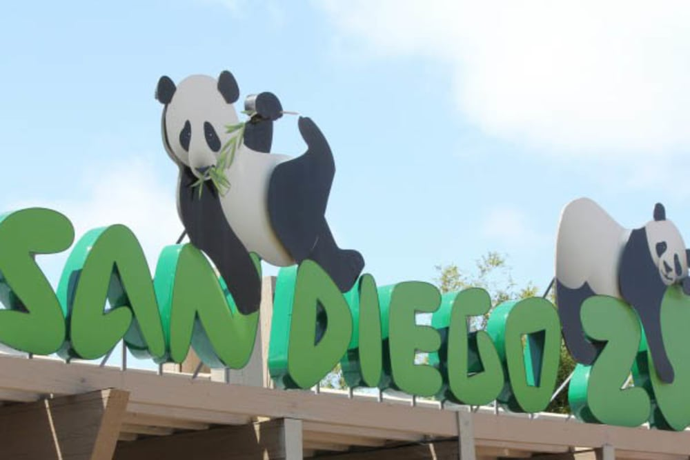 The zoo near Merrill Gardens at Bankers Hill in San Diego, California
