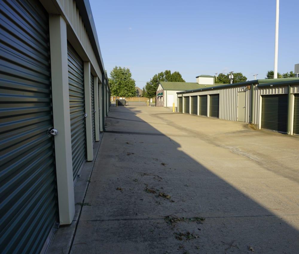 Drive-up units at Storage OK in Jenks, Oklahoma