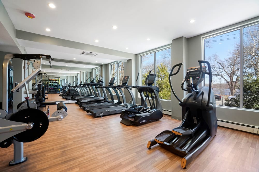 Onsite fitness center at Parkside Place in Cambridge, MA