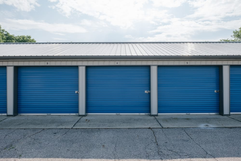 Roll-up doors on self storage units at StayLock Storage in Battle Creek, Michigan