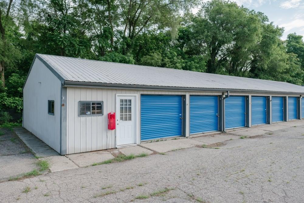 Row of storage units at StayLock Storage in Battle Creek, Michigan