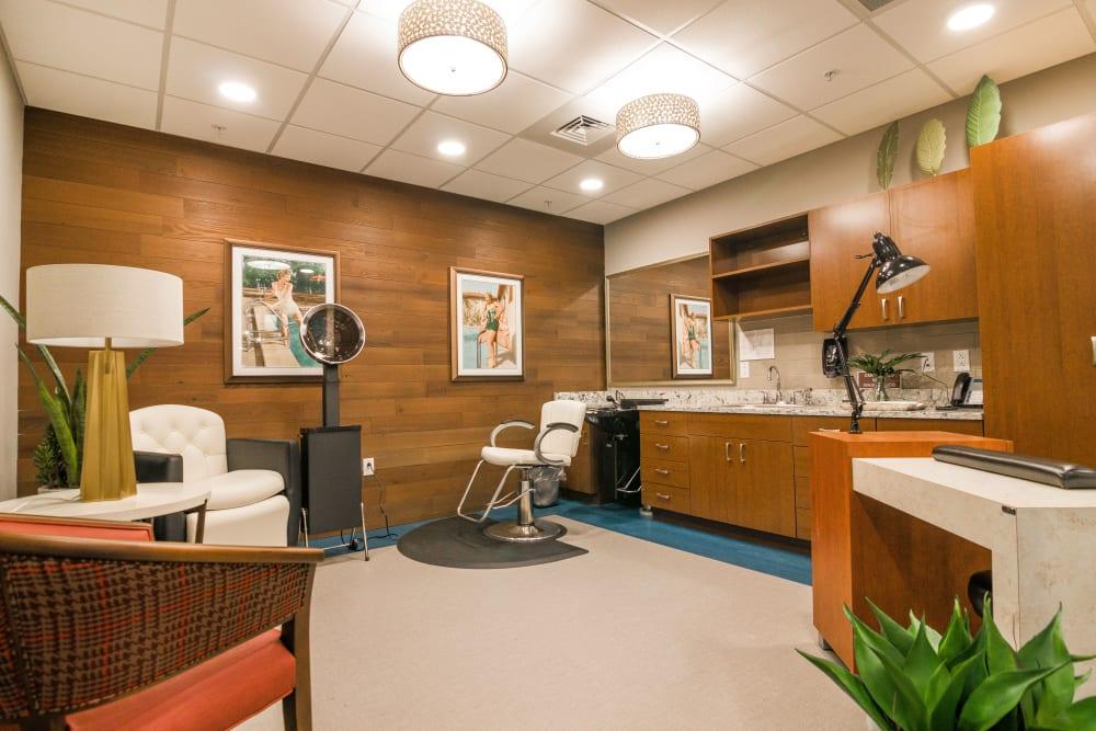 Resident salon at CERTUS Premier Memory Care Living in Orlando, Florida.