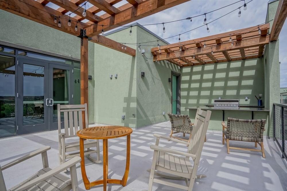 Beautiful community deck at Capitol Flats in Santa Fe, New Mexico