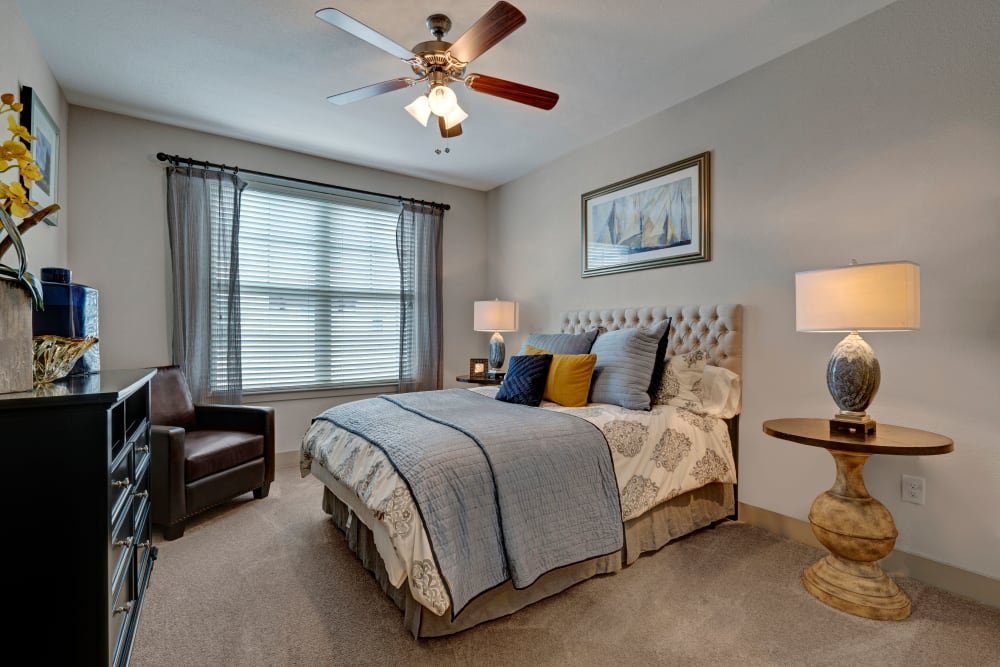 Spacious bedroom at Arrabella in Houston, Texas