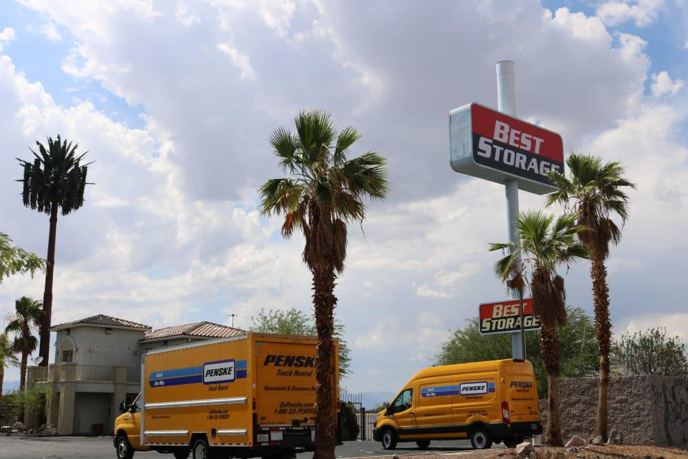 Penske trucks and palm trees in Henderson