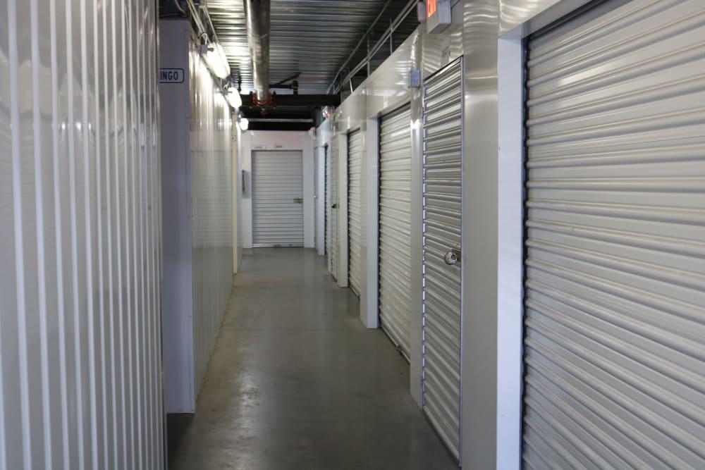 A hallway of indoor storage at Best Storage in Henderson, Nevada