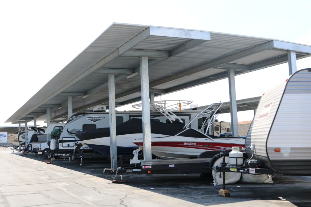 Covered outdoor parking at Best Storage in Henderson, Nevada