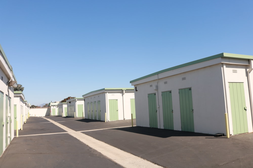 Drive up units at Channel Islands Self Storage in Port Hueneme, CA