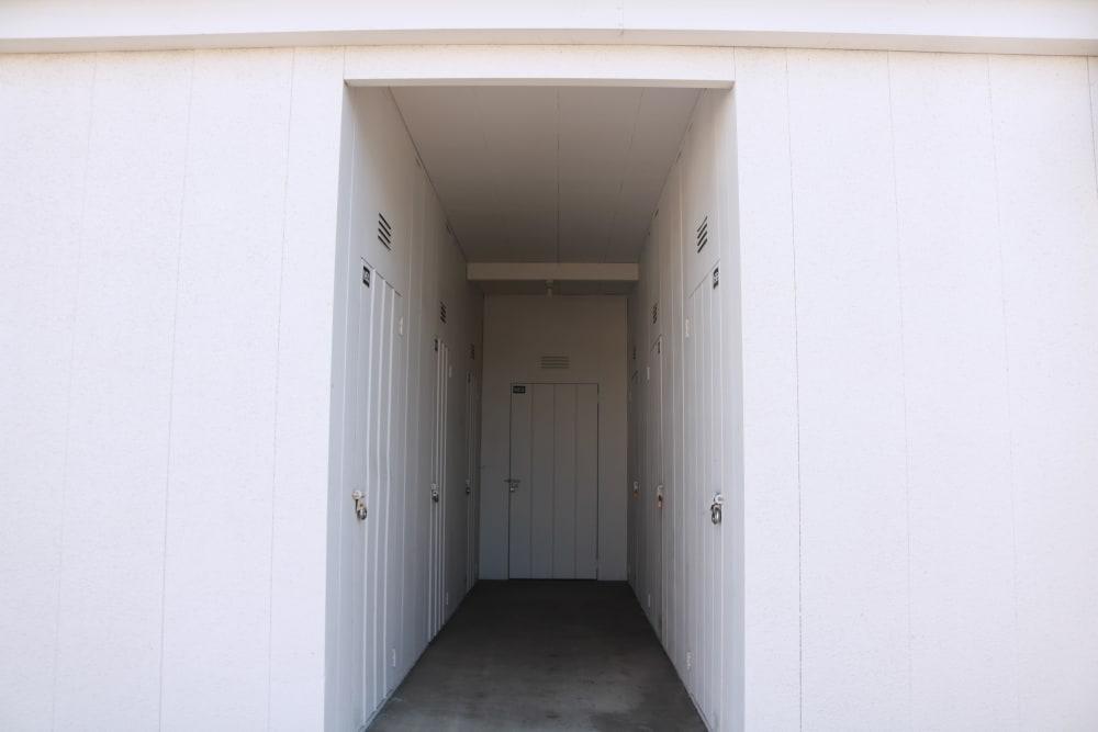 Hallway of units at Channel Islands Self Storage in Port Hueneme, CA