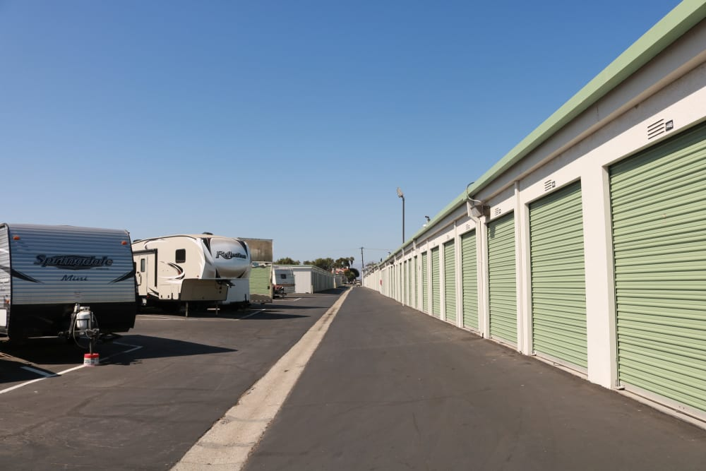 RV and boat parking at Channel Islands Self Storage in Port Hueneme, CA
