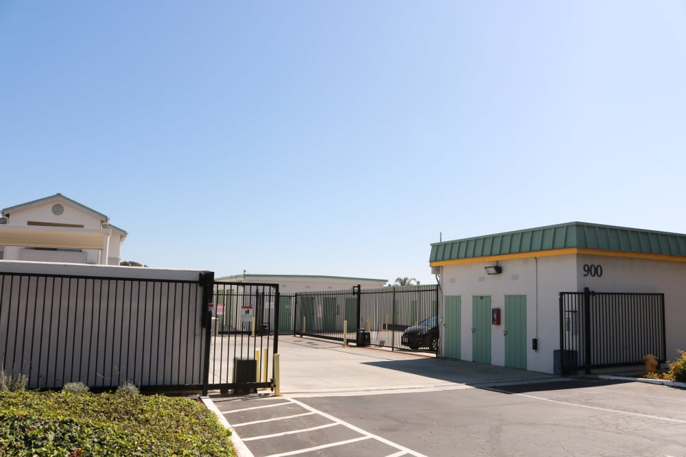Gated entrance at Channel Islands Self Storage in Port Hueneme, CA