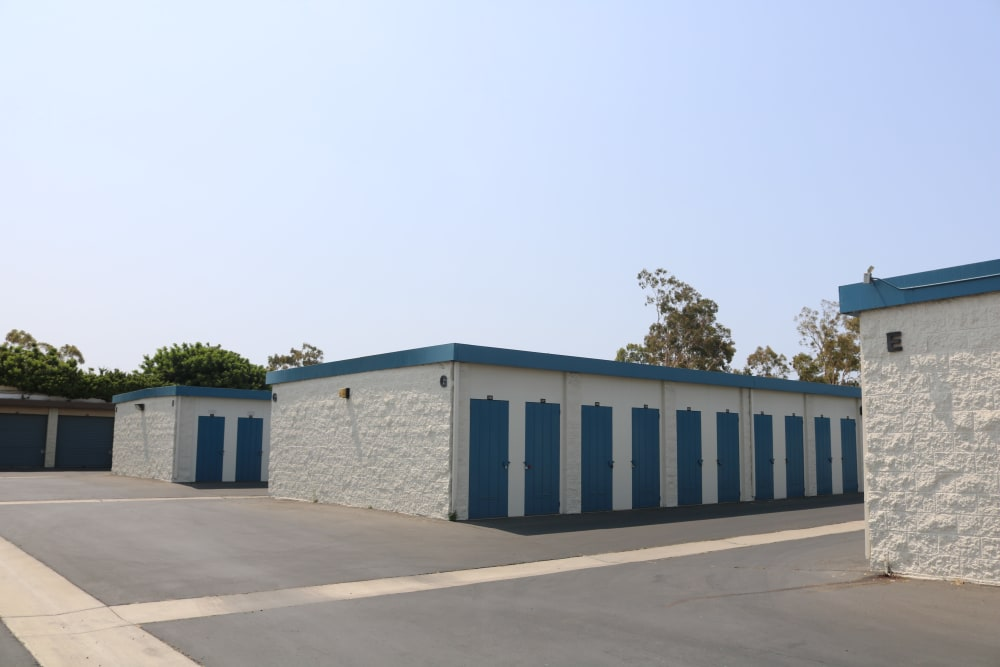 Wide driveways at our storage facility on Auto Center Drive in Oxnard