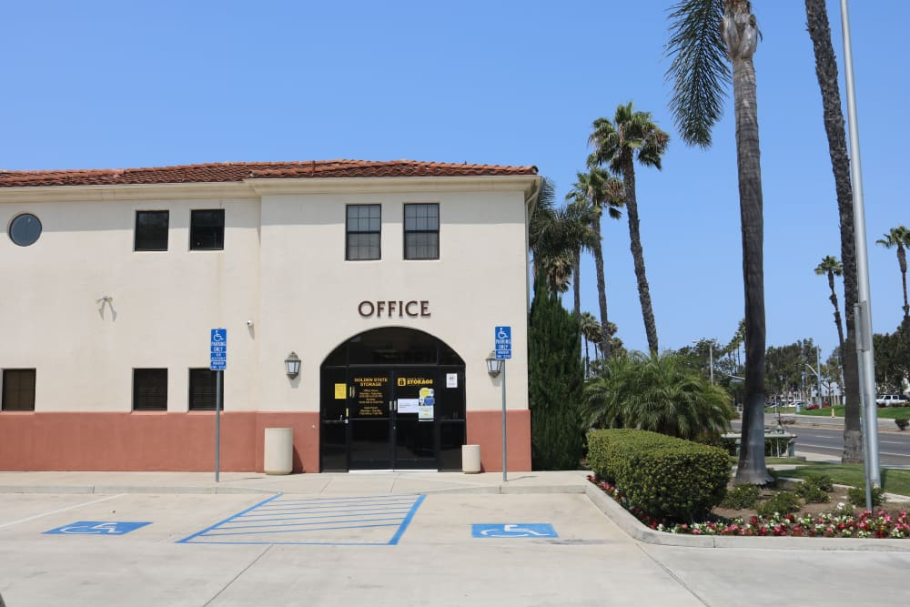 The office entrance at Golden State Storage - Oxnard in Oxnard, California