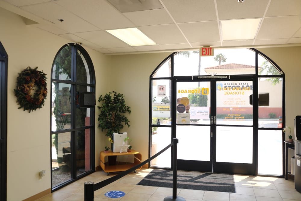 The welcoming office of our storage facility on Auto Center Drive in Oxnard