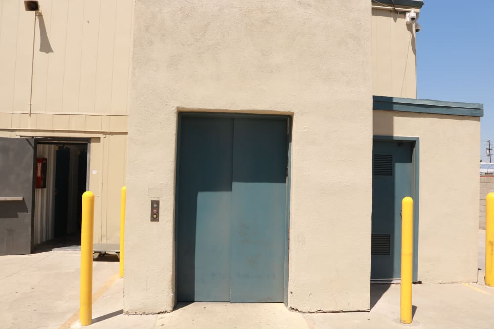 Elevator at our storage facility on Sepulveda Boulevard in North Hills