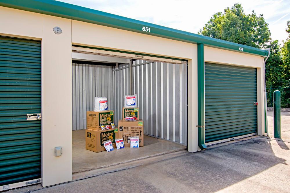 Open unit at Metro Self Storage in Mableton, Georgia
