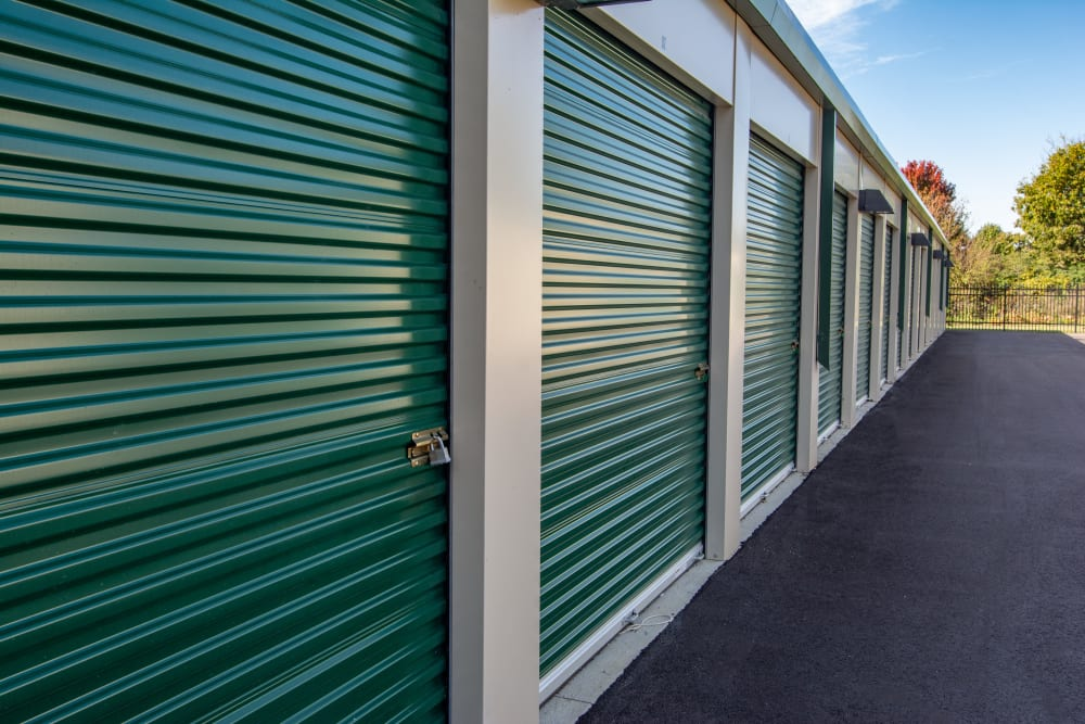 Storage unit exteriors in Nashville, Tennessee