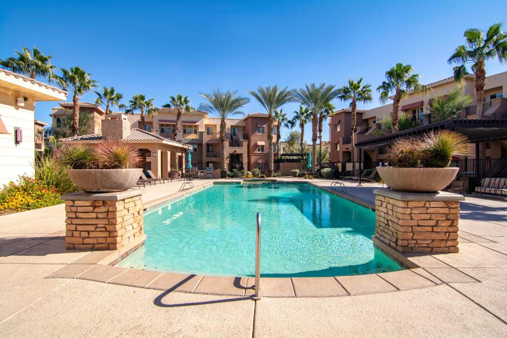 Swimming pool at apartments in Surprise, Arizona
