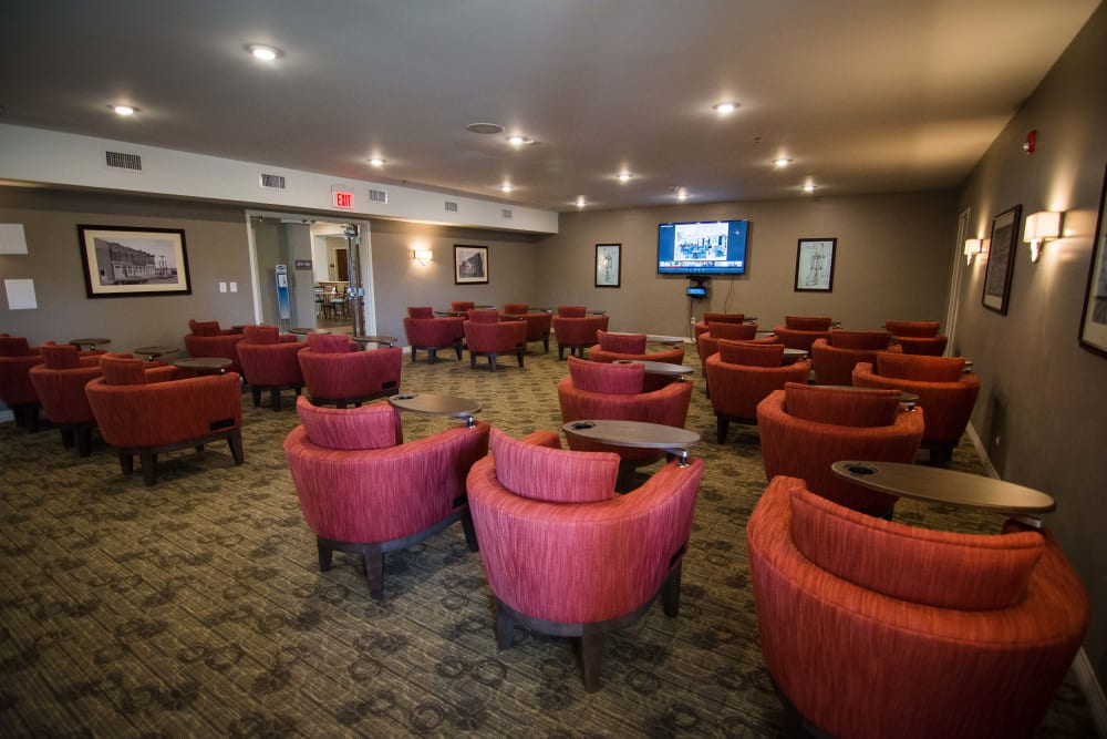 Lounge at Arcadia Senior Living Clarksville in Clarksville, Tennessee