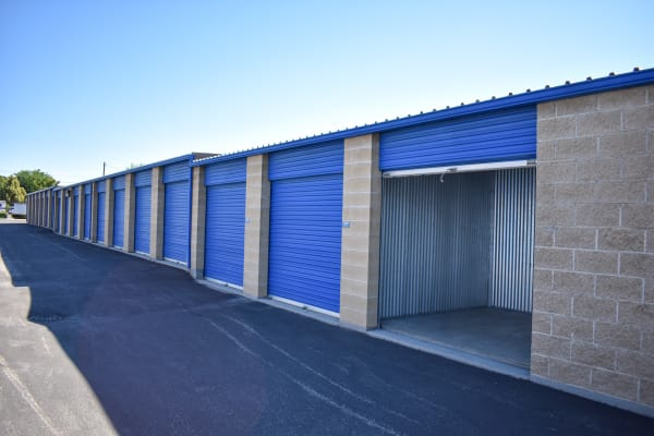 Looking into an open storage unit at STOR-N-LOCK Self Storage in Boise, Idaho