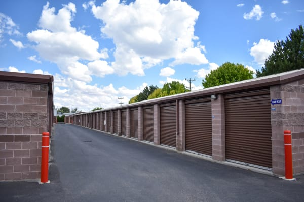 Brick colored exterior storage units at STOR-N-LOCK Self Storage in Boise, Idaho