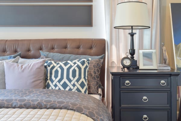 Beautiful bedroom interior at Allen Creek Apartments in Burlington, Kentucky