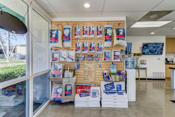 Supplies at Outback Self Storage in Orange, California