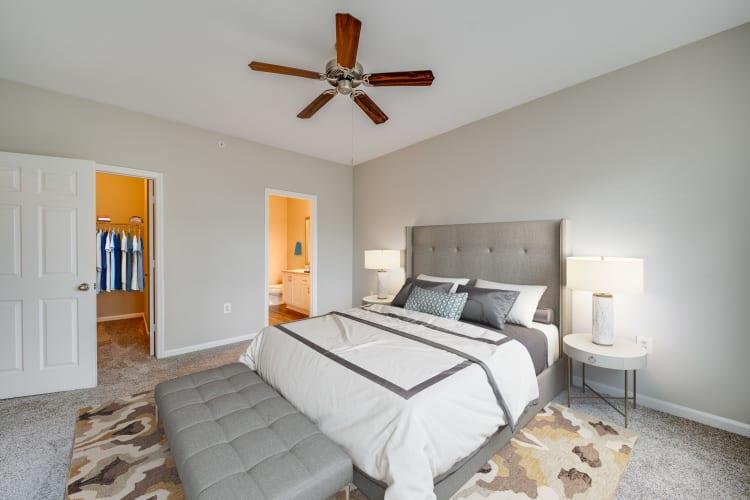 Comfy bedroom at Preston View in Morrisville, North Carolina