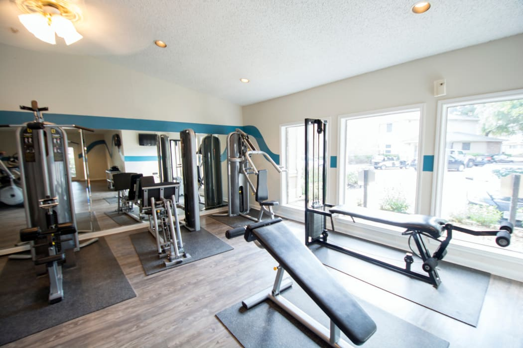 Fitness center at Stonecrossing of Westchase in Houston, Texas