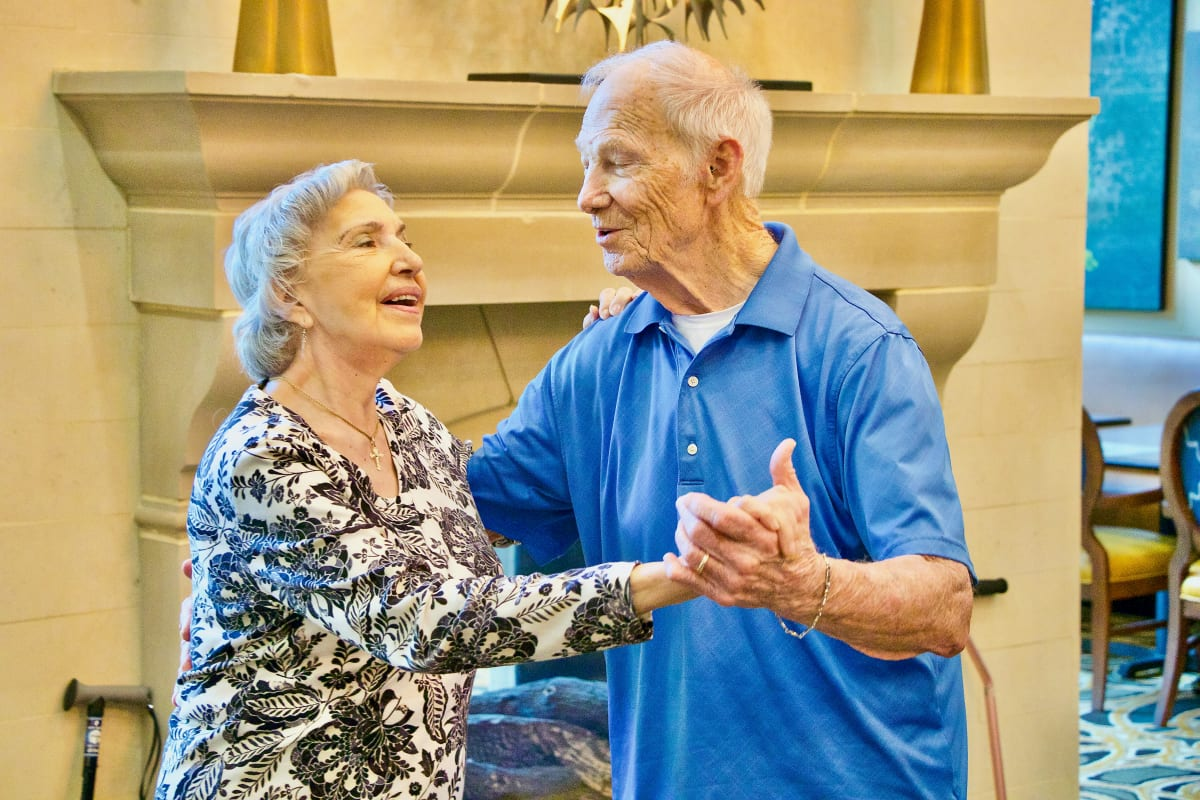 Couple dancing together at Watercrest at Bryan in Bryan, Texas