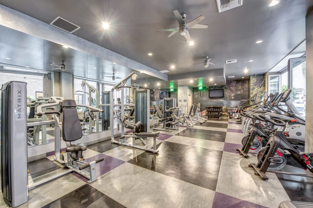 State of the art fitness center at The Roosevelt