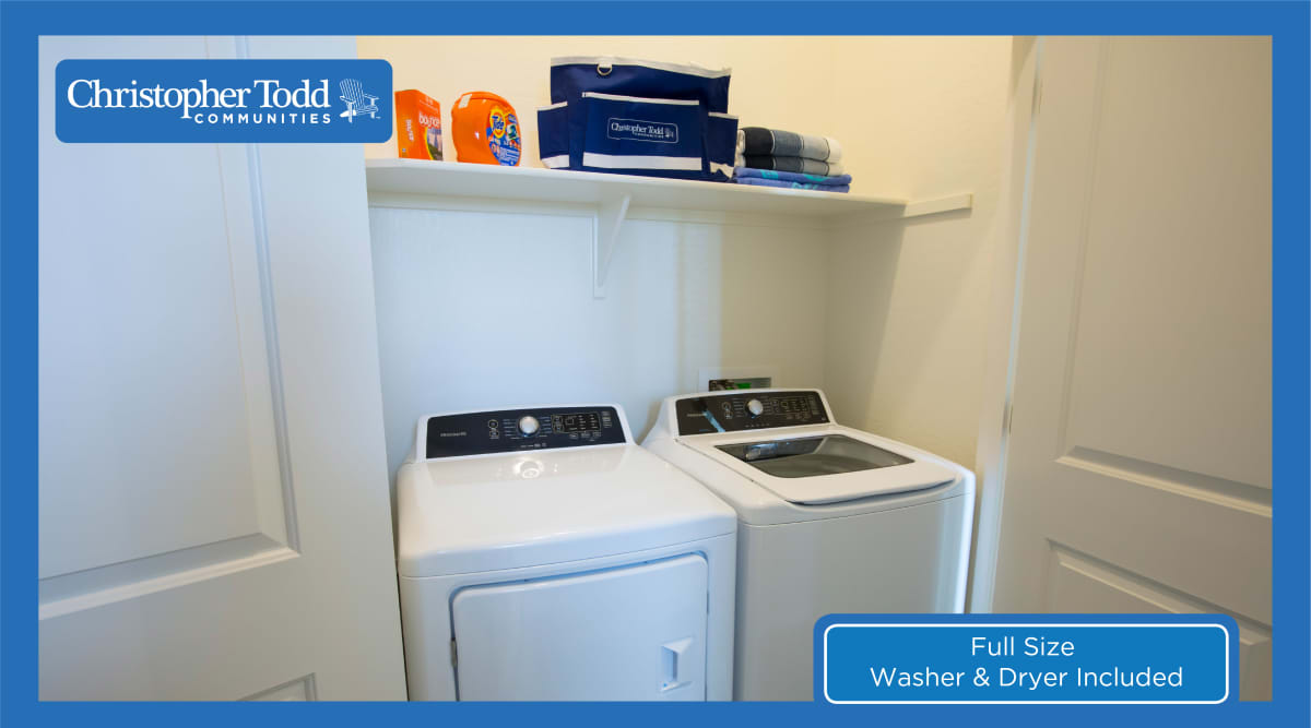 In-home washer and dryer at Christopher Todd Communities On Camelback in Litchfield Park, Arizona