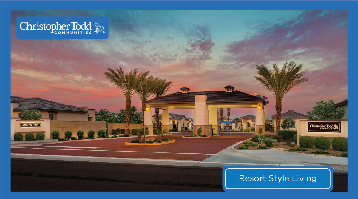 The facade at Christopher Todd Communities On Camelback in Litchfield Park, Arizona