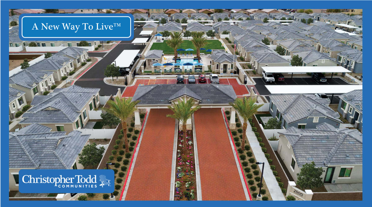 Aerial view of the community at Christopher Todd Communities On Camelback in Litchfield Park, Arizona