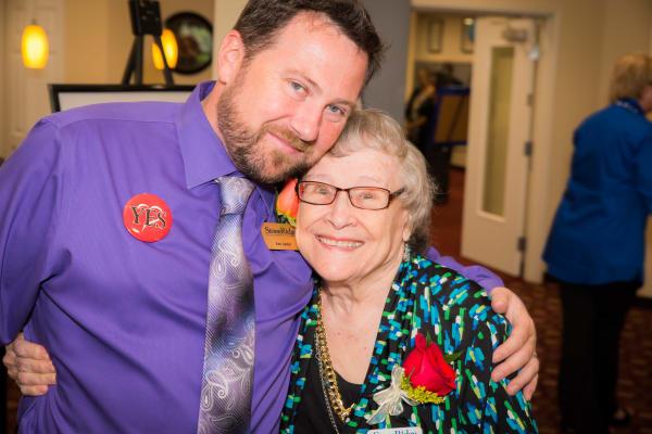 A resident and caretaker at Stoneridge Gracious Retirement Living in Cary, North Carolina