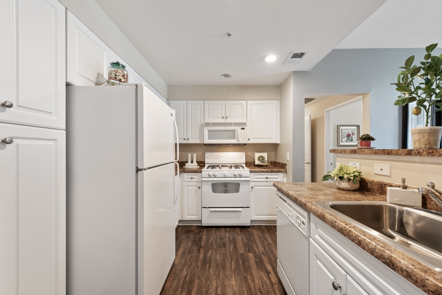 Kitchen at The Village on 5th in Rancho Cucamonga, California