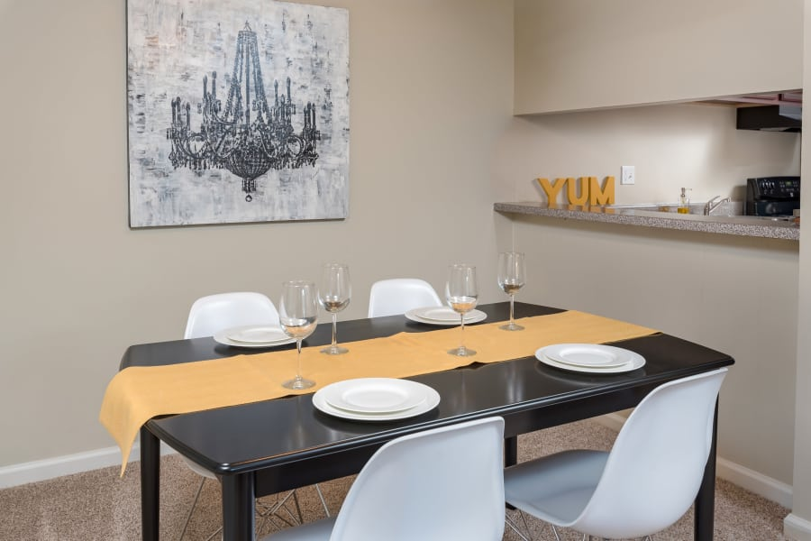 Apartments with a modern dining area