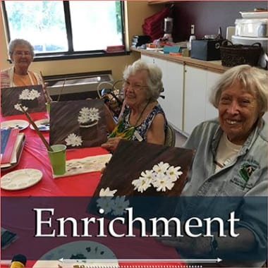 Independent living enrichment opportunities at Heatherwood Senior Living