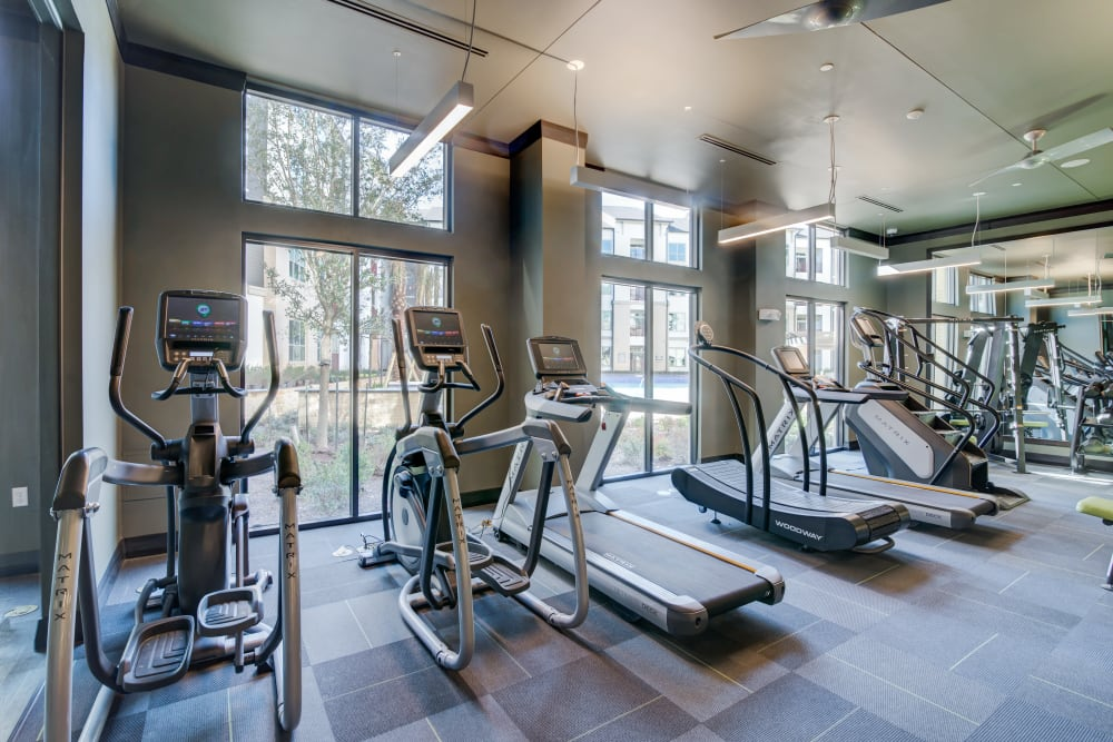 Spacious gym at The Abbey at Northpoint in Spring, Texas