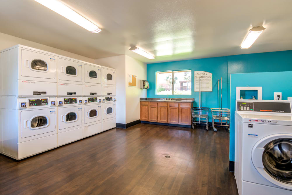 The laundry center at Hillside Terrace Apartments in Lemon Grove, California