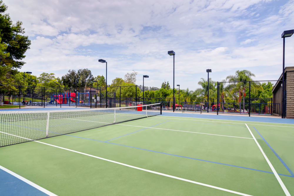 Tennis court at Presidio at Rancho Del Oro in Oceanside, California