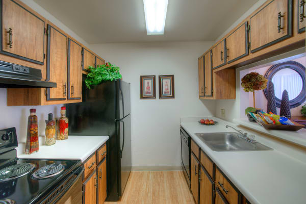 Modern kitchen at Verona Park Apartments